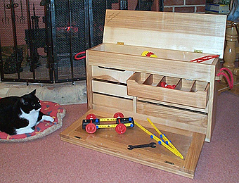 Photograph of a special toy box