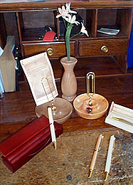 Photograph of a wooden office set