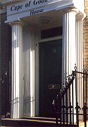 Fluted door portal columns in Ipswich