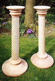 Photograph of some turned columns